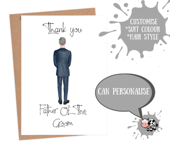 Thank You Father of the Groom - Custom Suit
