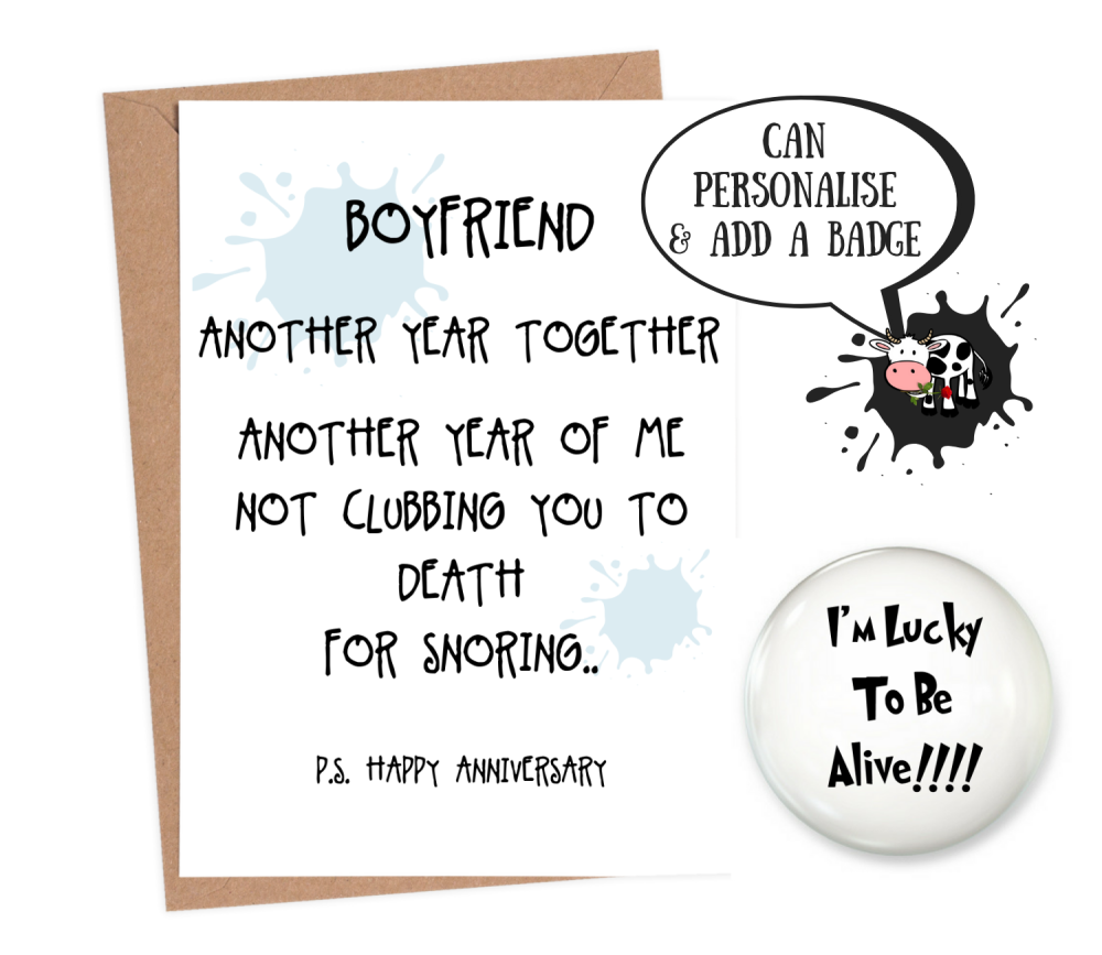 funny anniversary card for boyfriend