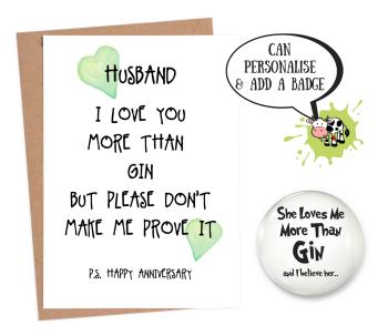 Husband 'love you more than gin'