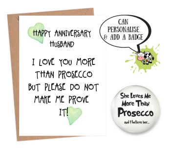 Husband 'love you more than prosecco'