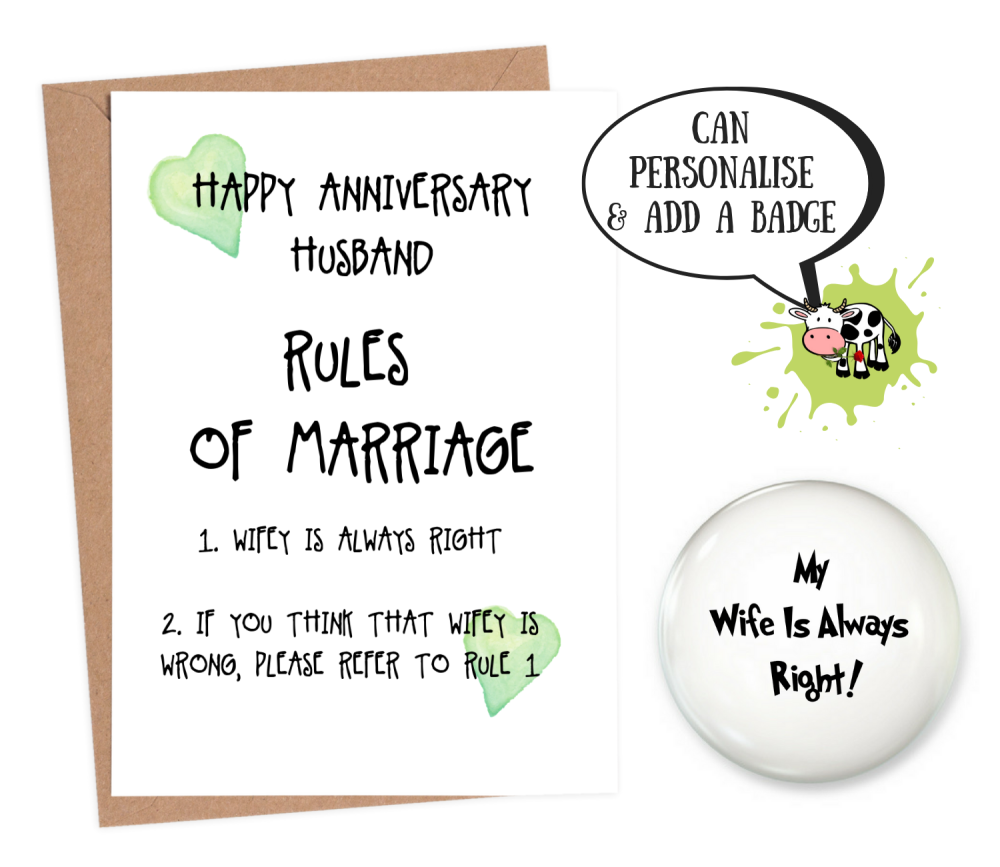 funny anniversary card for husband
