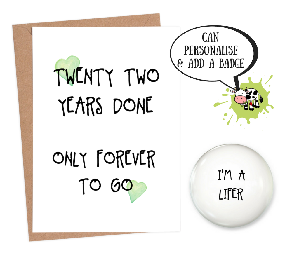 22 year anniversary card funny