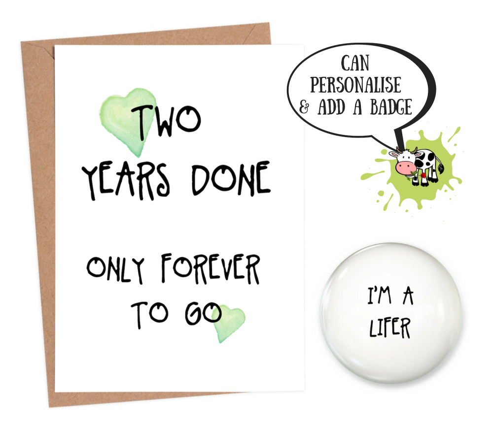 2 year anniversary card funny