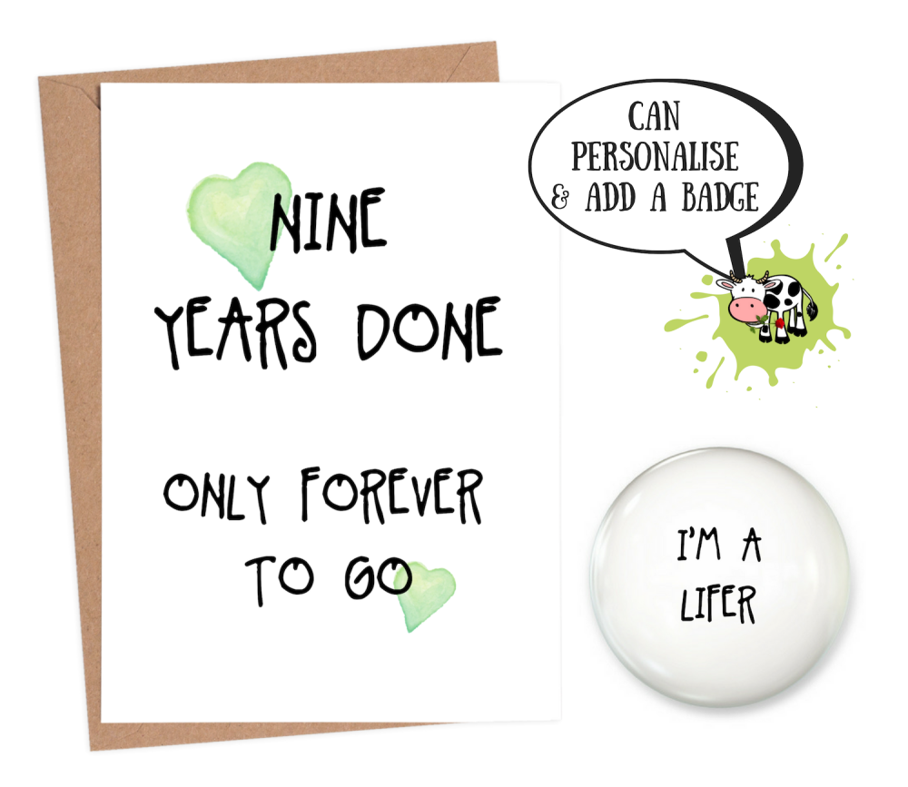 9 year anniversary card funny