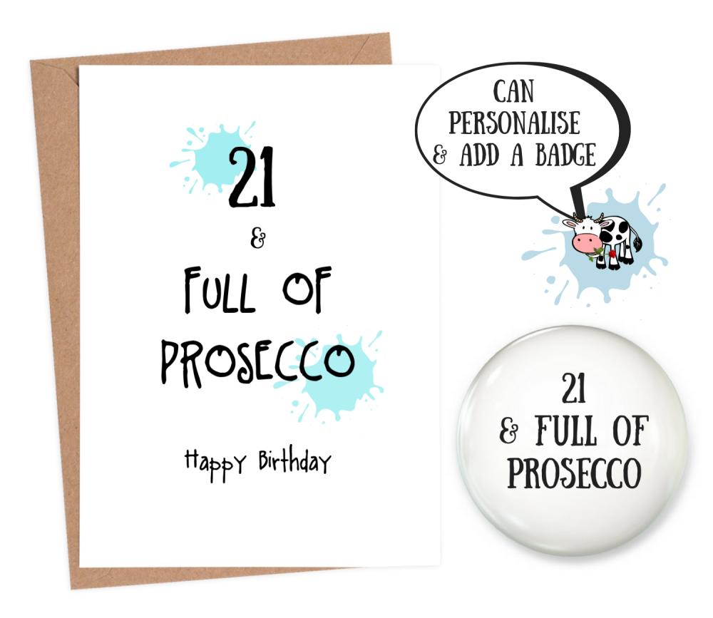 funny 21st birthday cards