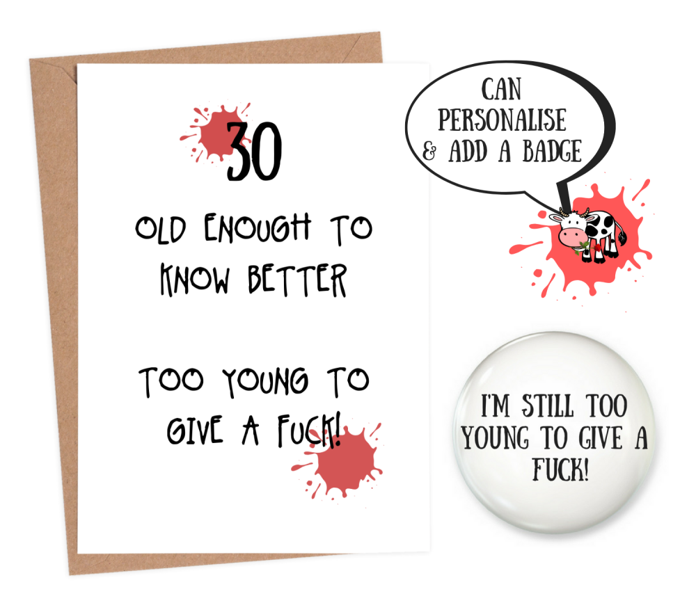 funny 30th birthday cards