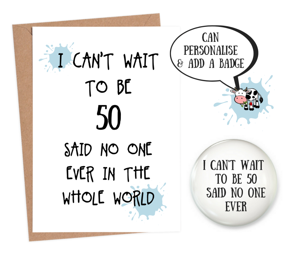 funny 50th birthday cards