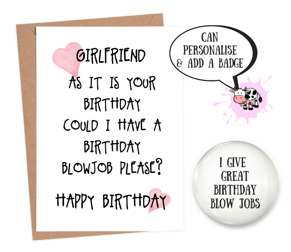 rude girlfriend birthday cards
