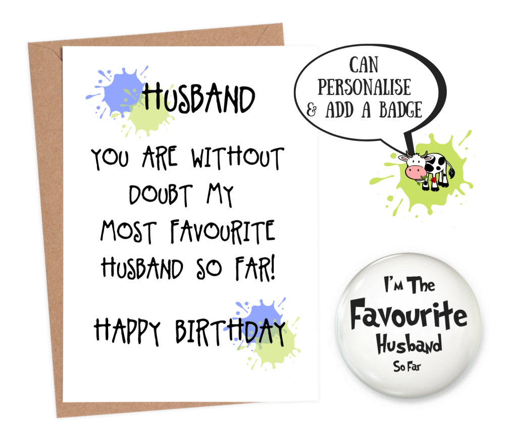 rude husband birthday cards