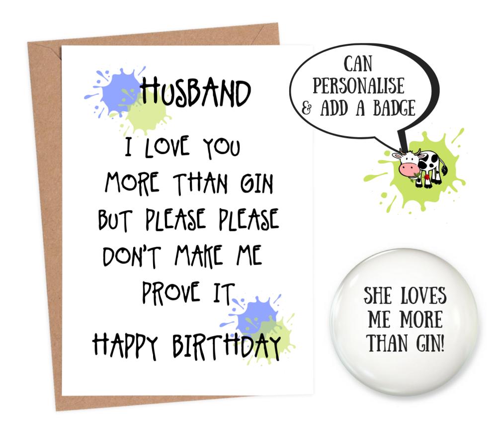 rude husband birthday cards