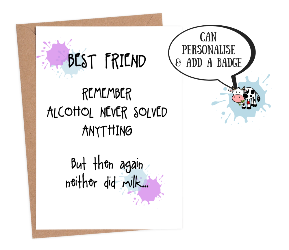 best friend card funny