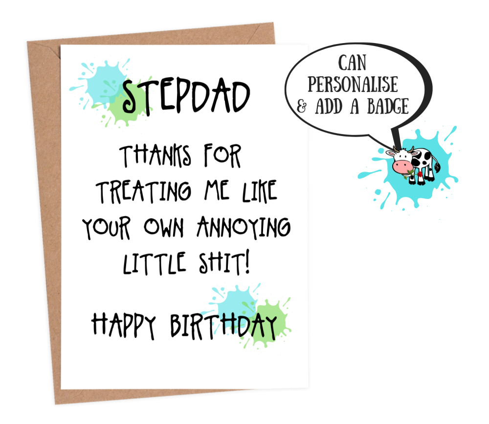 funny stepdad birthday card