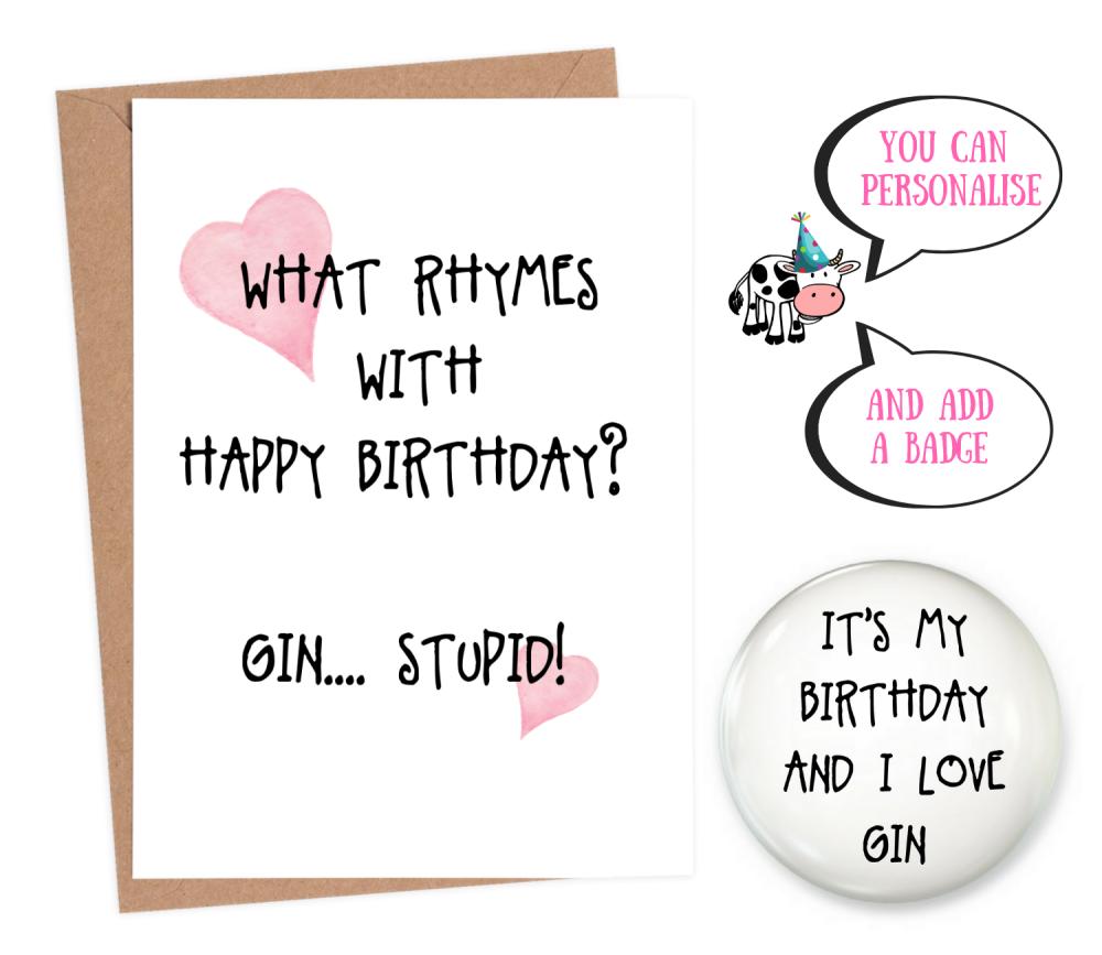 Birthday Quiz, Gin