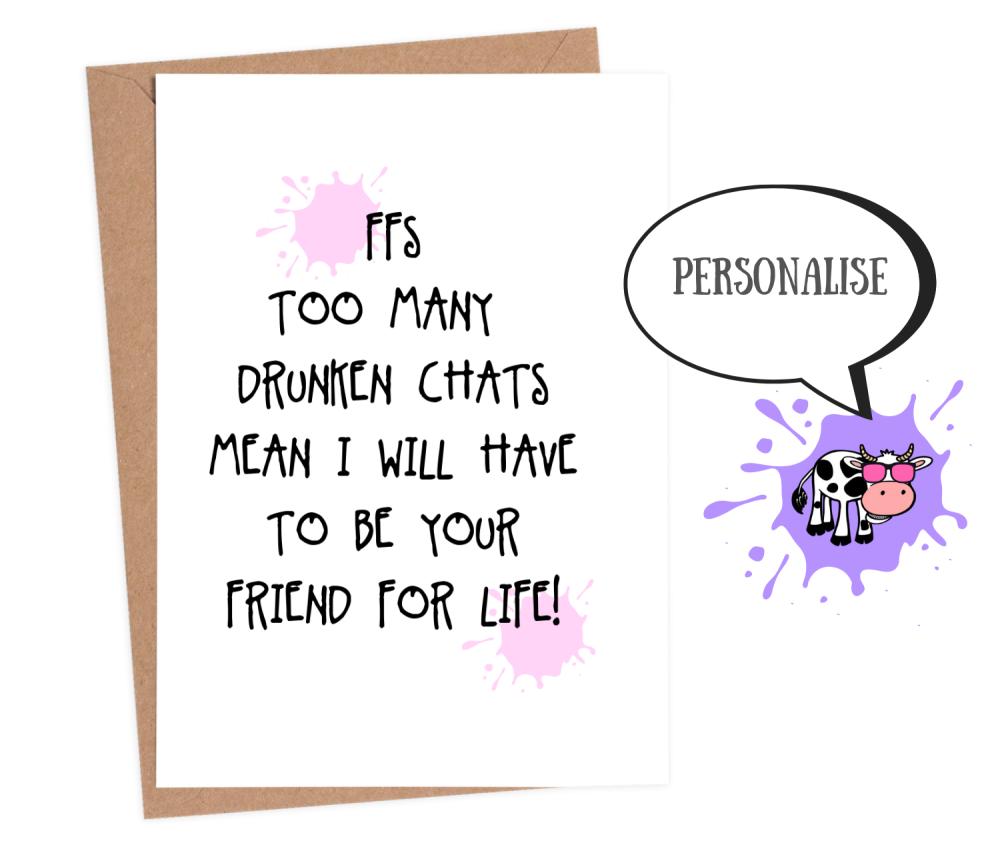 friendship card funny