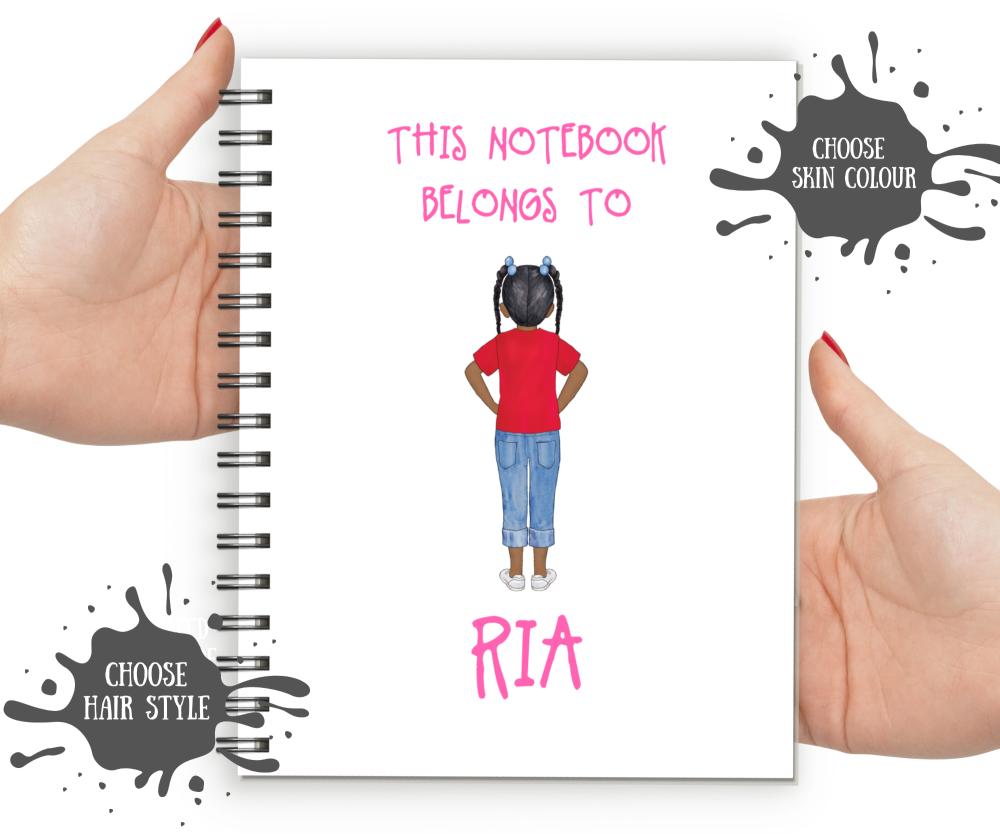 Kids Notebook - Dark Skin Girl