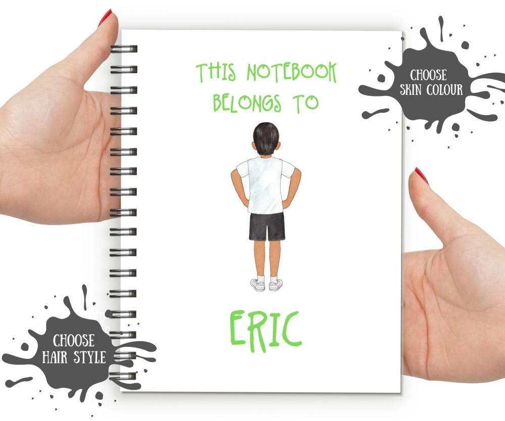 personalisd kids notebooks