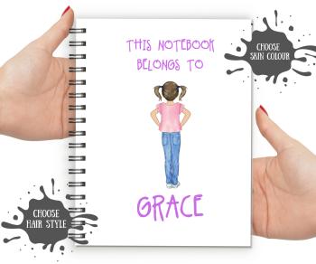 Kids Notebook - Fair Skin Girl