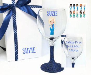 Nurse Wine Glass