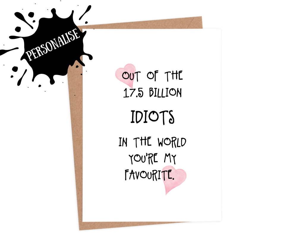 Out of 7.5 Billion Idiots HVD