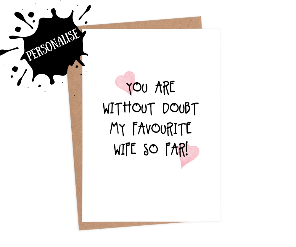 funny valentines cards for wife