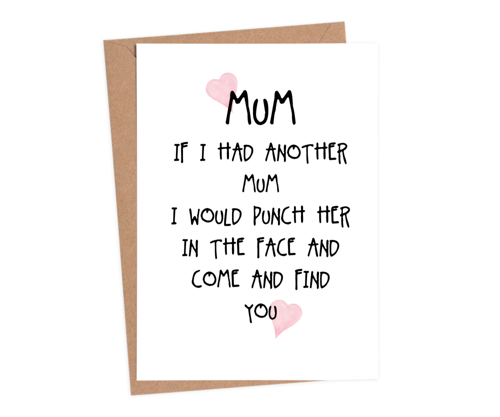 sarcastic mothers day cards