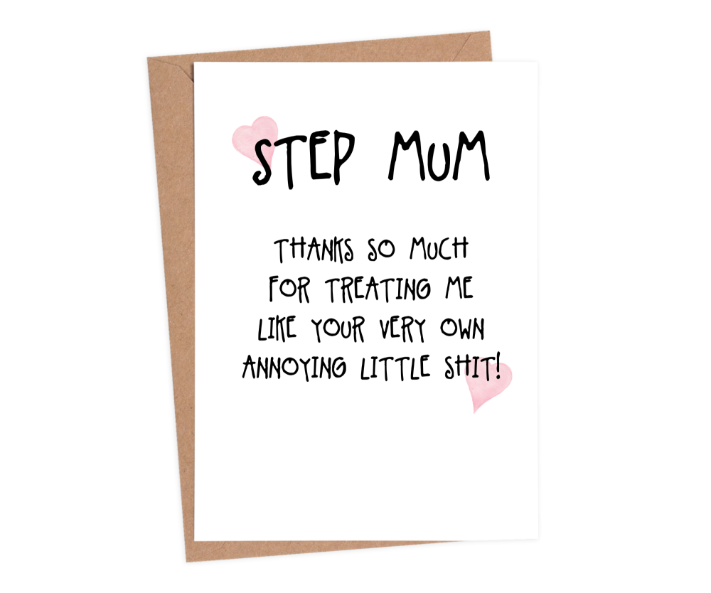 step mum mothers day cards