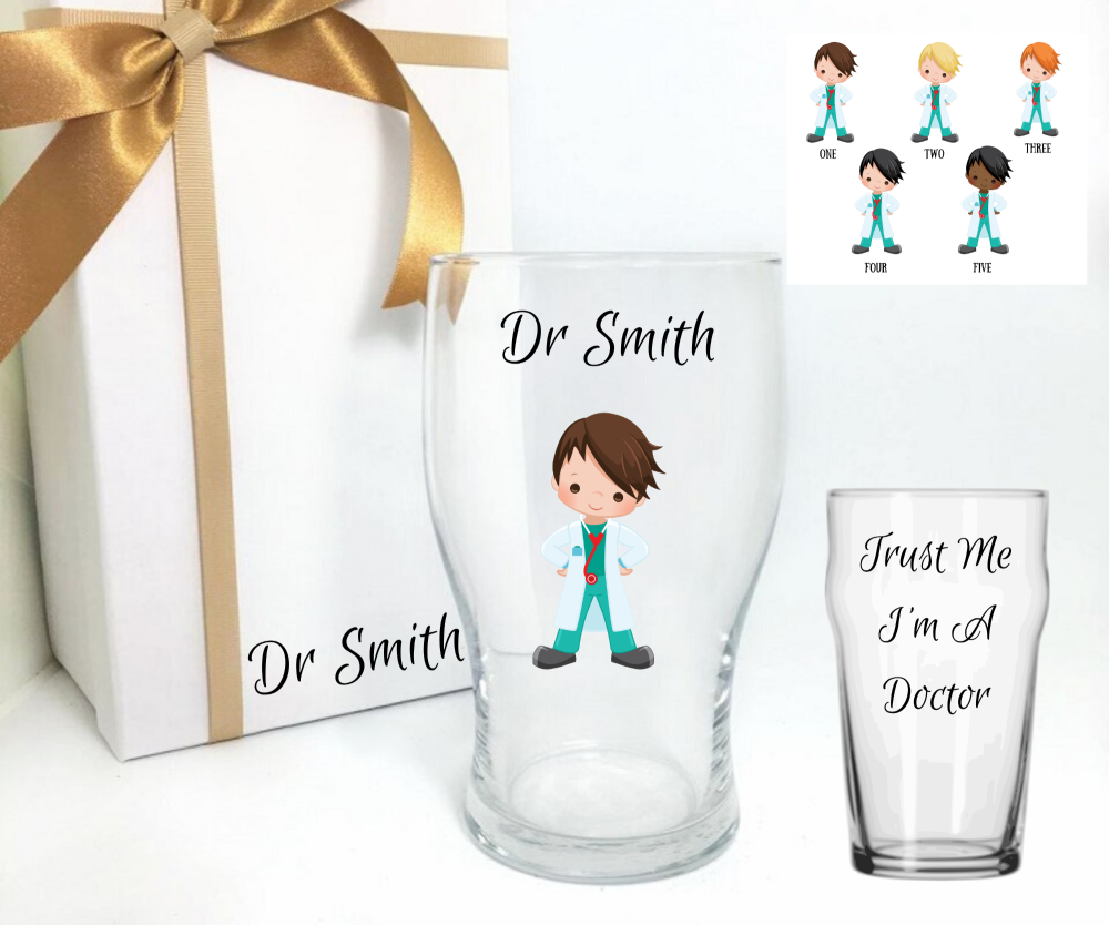 Doctor Pint Glass