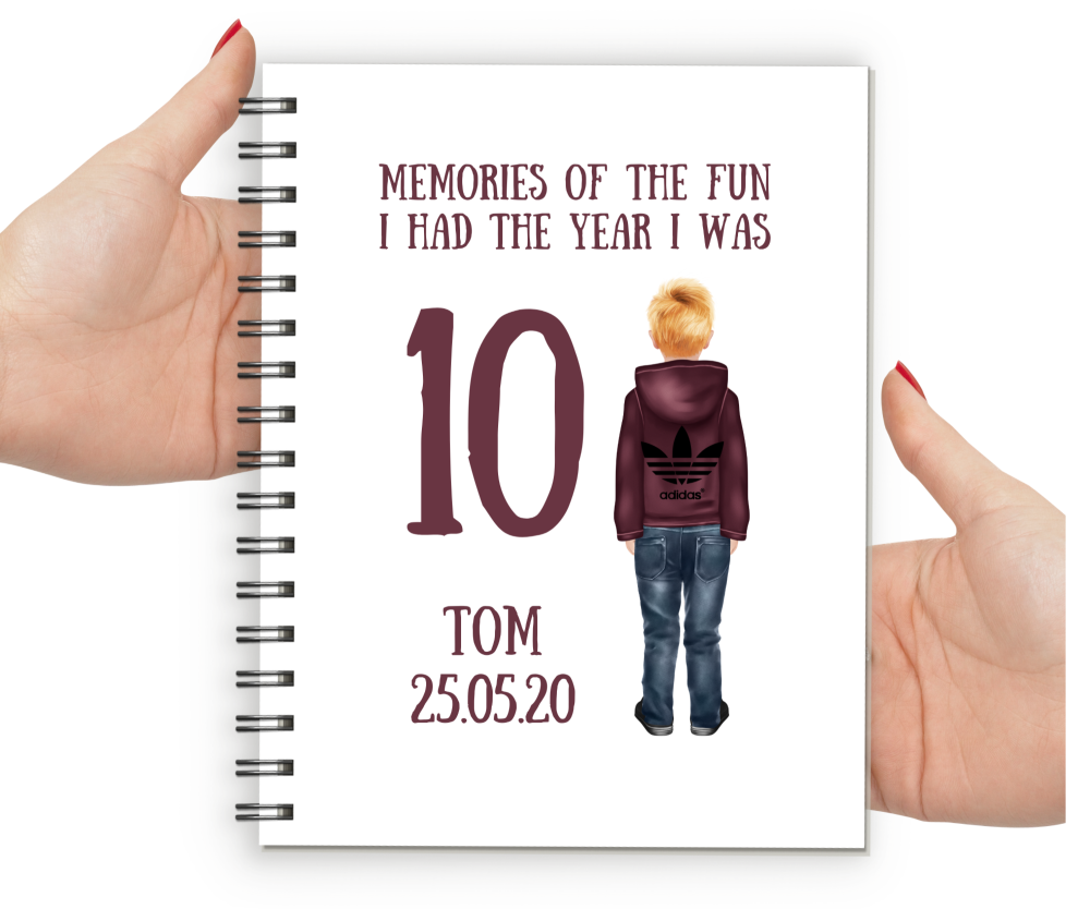 10th Birthday Boy Notebook