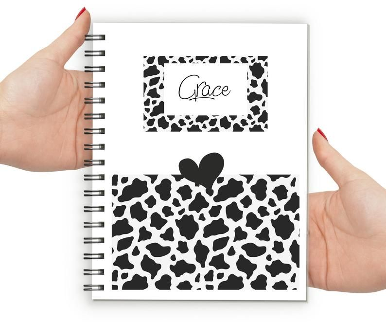 cow print notebook