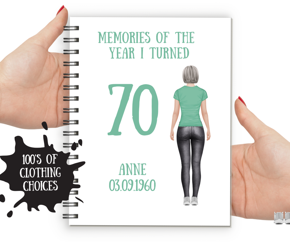70th  Notebook Woman