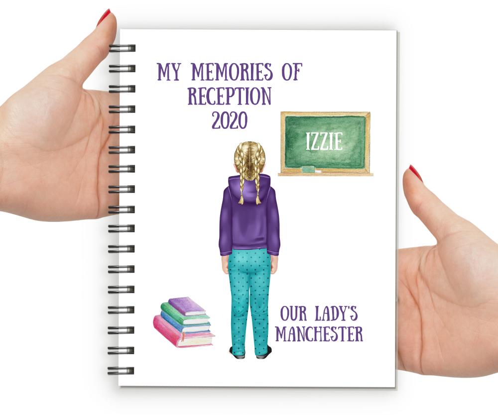 Memories of Reception Notebook Girl