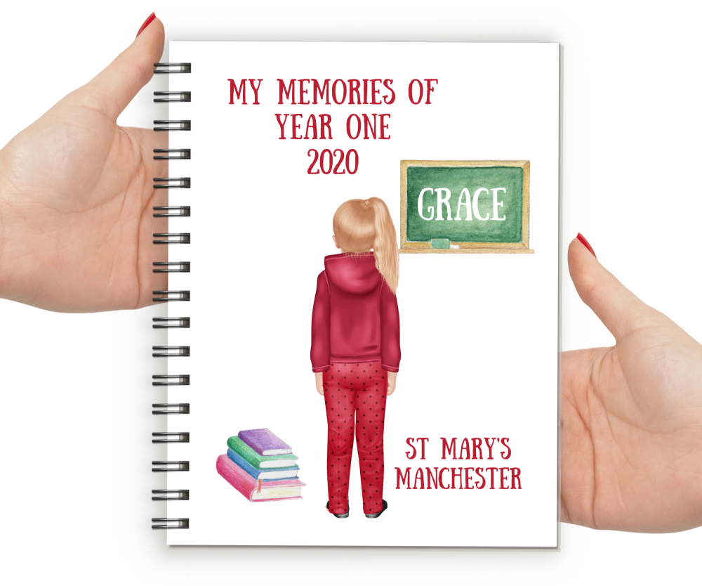Memories of Year One Notebook Girl