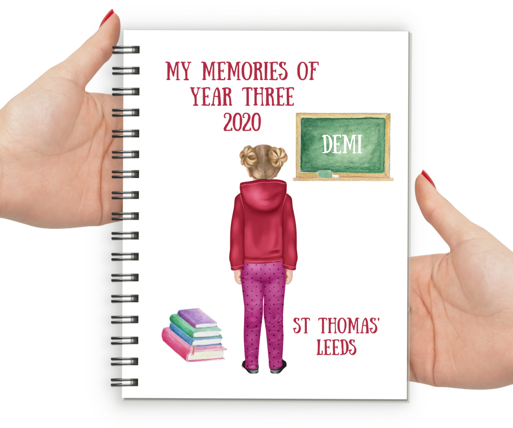 Memories of Year Three Notebook Girl