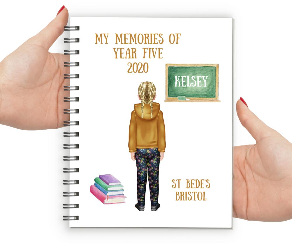Memories of Year Five Notebook Girl