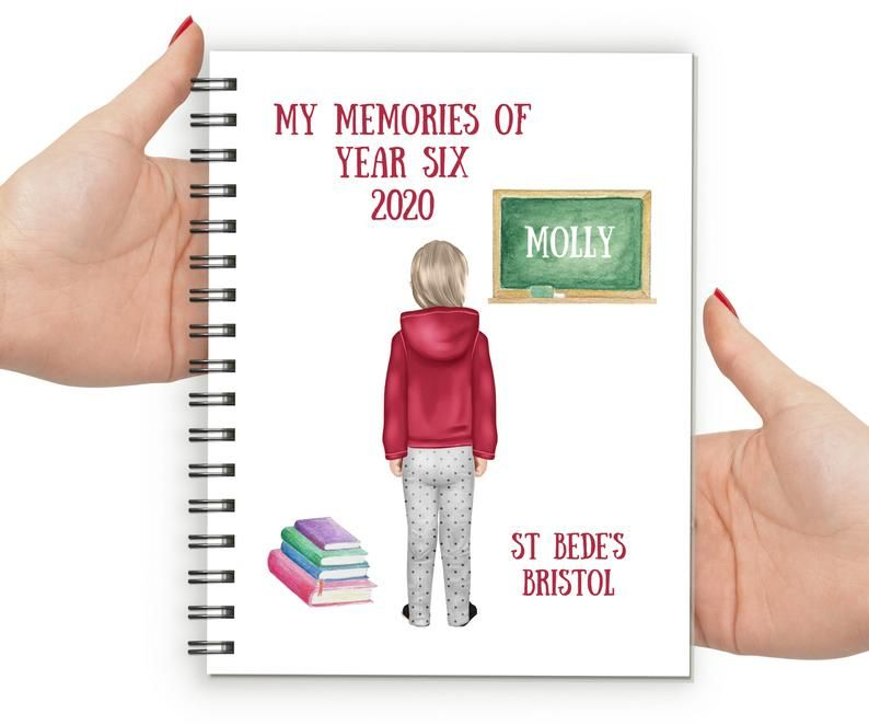Memories of Year Six Notebook Girl