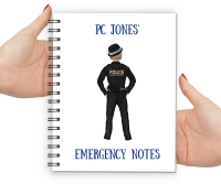 Police Woman Emergency Notes Notebook