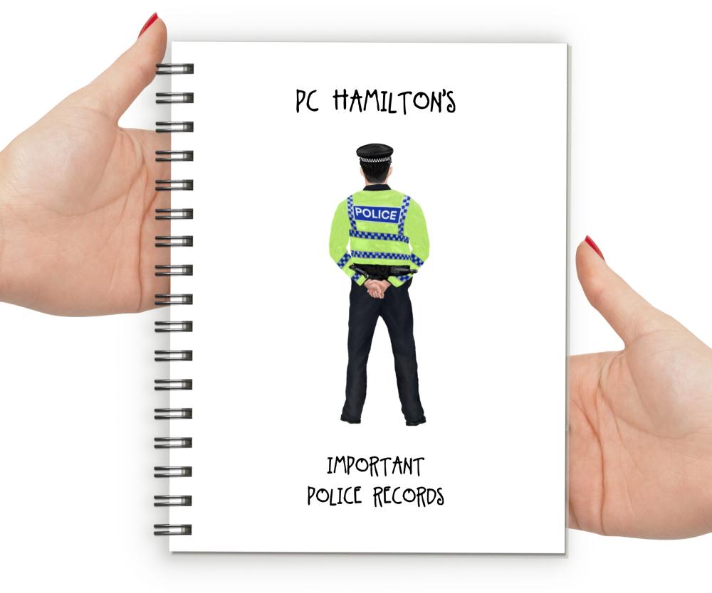 Police Man Police Records Notebook