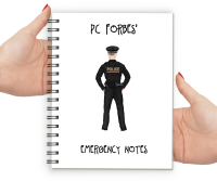 Police Man Emergency Notes Notebook