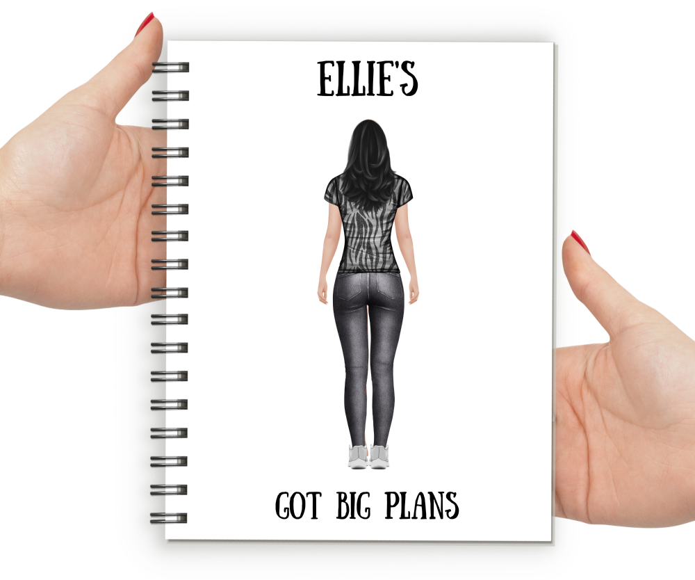 personalised notebook for women