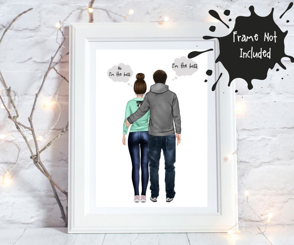 Personalised prints for couples