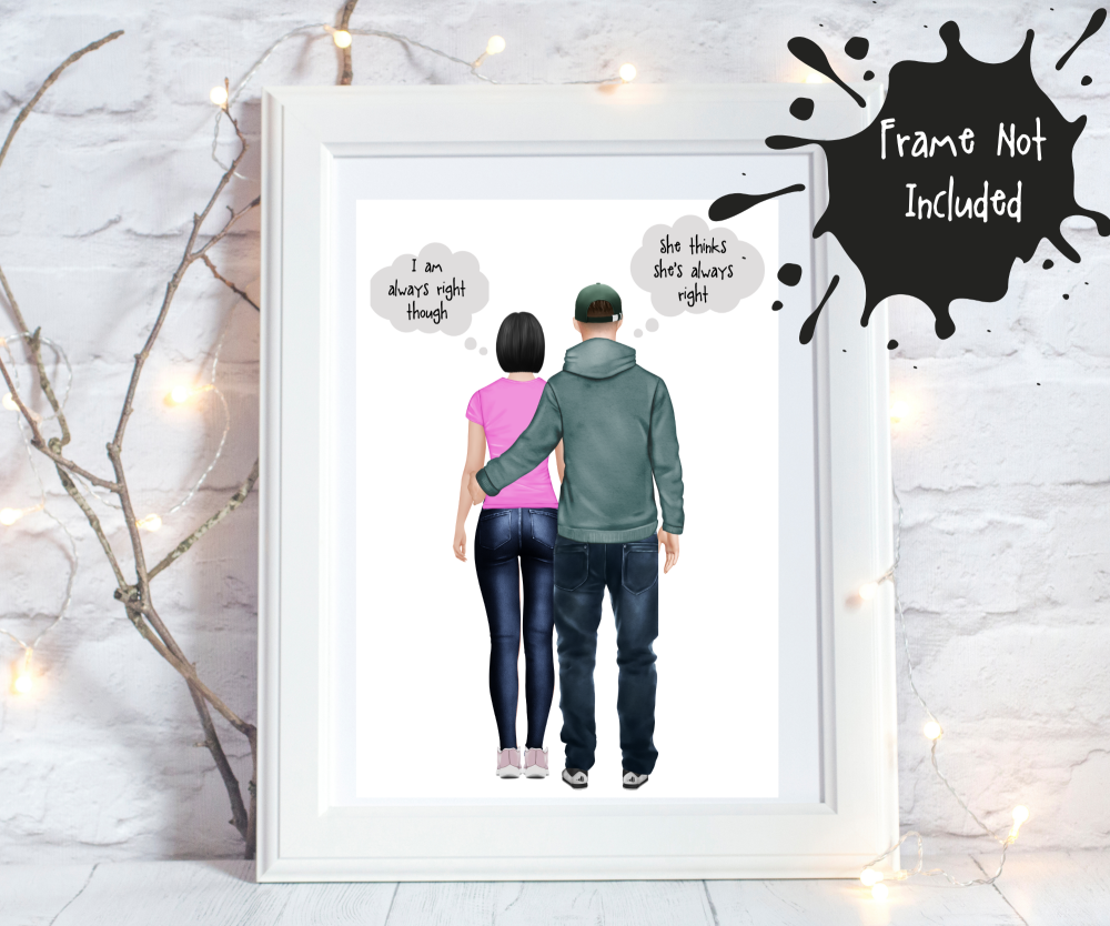 Personalised print for couples
