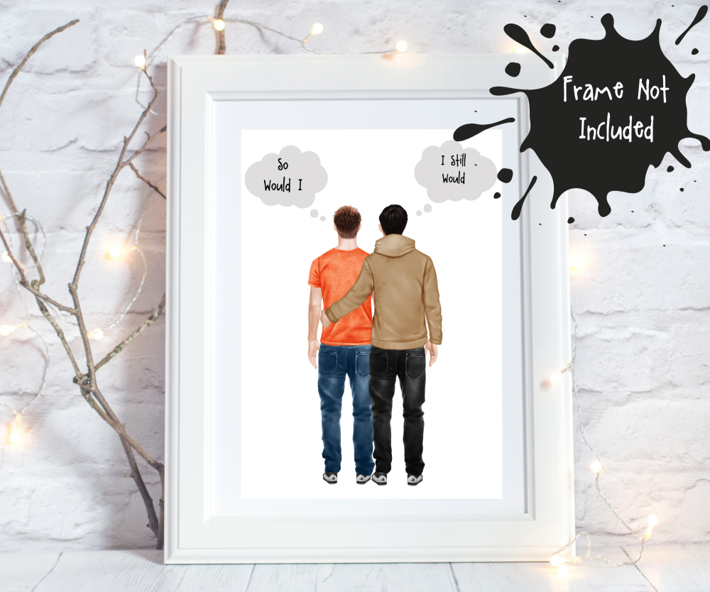 Personalised couple prints
