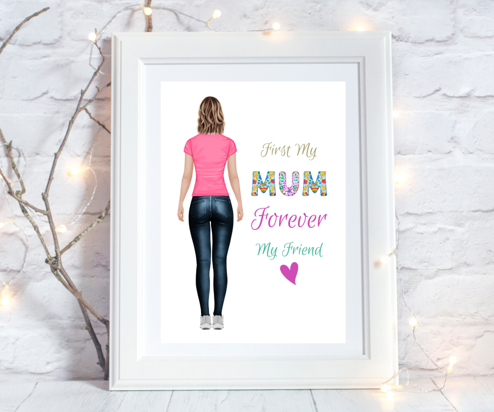 Print Mum Figure Boho
