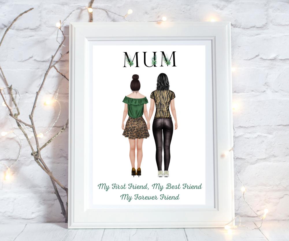 Print Mum/Daug  Black Foliage