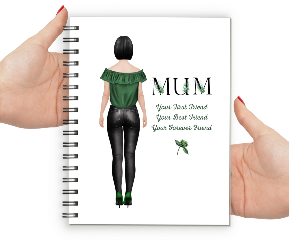 Notebook Mum Fig BLACK FOLIAGE