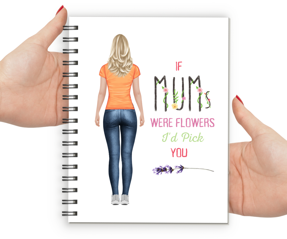 Notebook Mum Fig THIN FLORAL