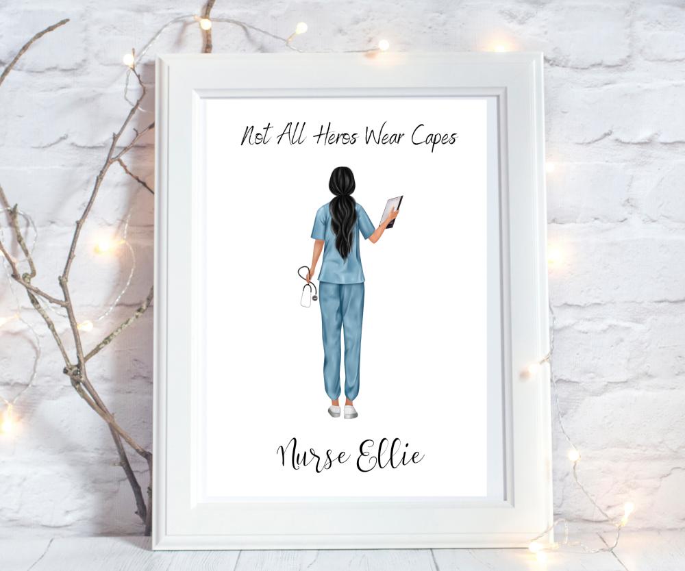 Print Nurse Female Heroes Wear Capes