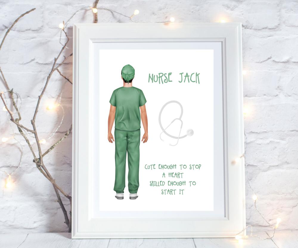 Print Nurse Male Cute Enough