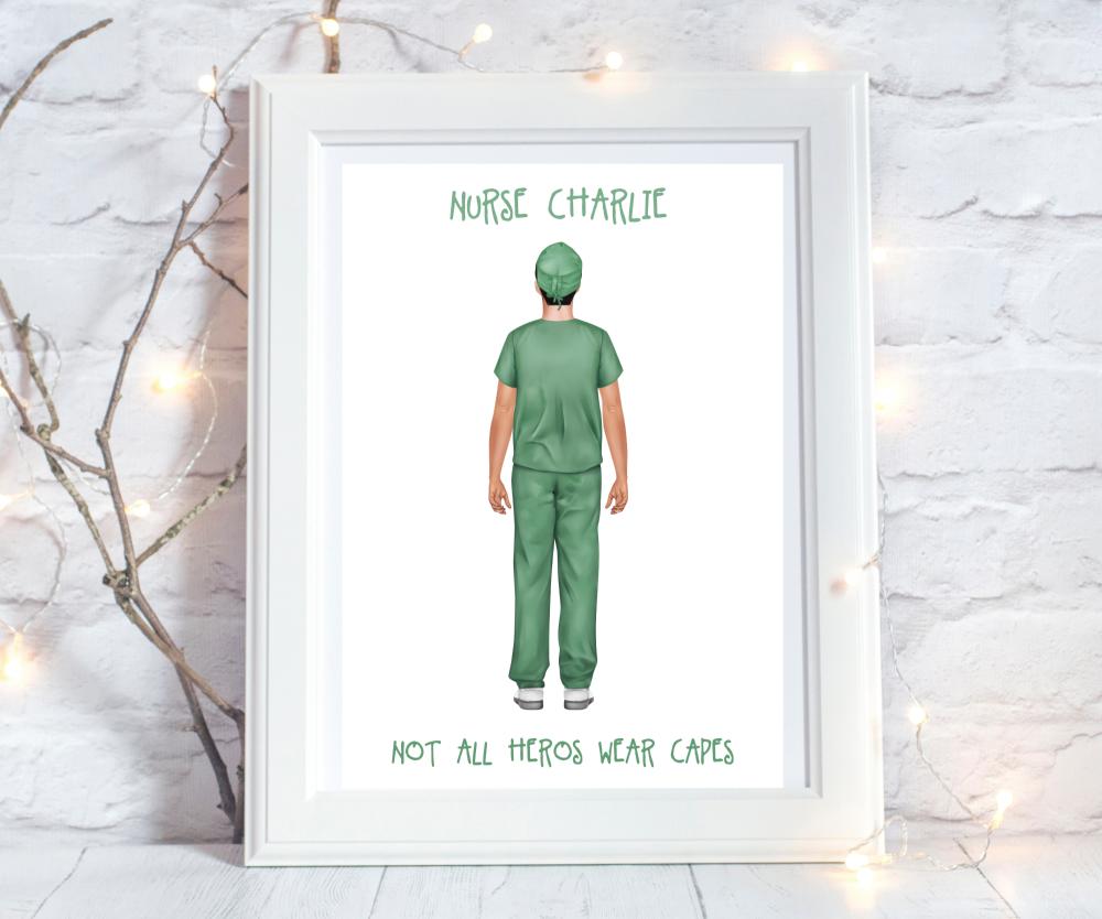 Print Nurse Male Heroes Wear Capes