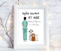 Print Vet Nurse Making a Difference
